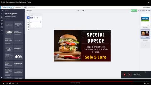 Editor animato digital Signage