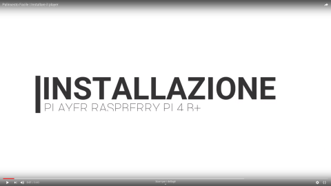 Installazione player digital signage